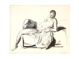 Nude Study, Classic on a Couch, 1923-24 Giclee Print by George Wesley Bellows
