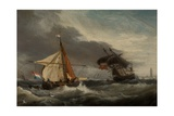 Boats, Mouth of the Tyne Giclee Print by George Webster
