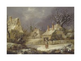 A Winter Landscape Giclee Print by George Smith