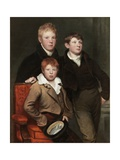 The Three Brothers, the Sons of Thomas Dallas Giclee Print by George Watson