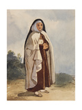 A Nun, with Additions by Princess Maria Annunziata Di Borbone (1843-1871) Giclee Print by Giacinto Gigante