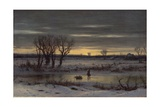 Winter Twilight Near Albany, 1858 Giclee Print by George Henry Boughton