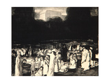 In the Park, Dark, 1916 Giclee Print by George Wesley Bellows