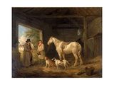Paying the Ostler Giclee Print by George Morland