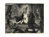 The Cigarette, from 'The War' Series, 1918 Giclee Print by George Wesley Bellows