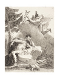 Mercury Appears to Æneas in a Dream, C.1770 Giclee Print by Giandomenico Tiepolo