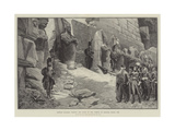 French Soldiers Visiting the Ruins of the Temple of Karnak, Egypt, 1798 Giclee Print by Georges Clairin