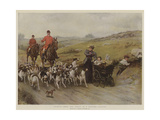 Fearful Odds! the Perils of a Hunting Country Giclee Print by George Goodwin Kilburne