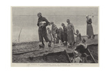The Funeral of a Fisherman's Child, at Volendam, on the Zuider Ze Giclee Print by George Sherwood Hunter