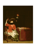 Music Lesson Giclee Print by Gerard ter Borch