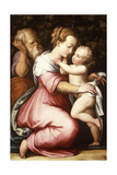 The Holy Family, 16th Century Giclée-Druck von Giorgio Vasari