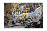 Italy. Florence. Dome of Brunelleschi. Last Judgement, by Giorgio Vasari and Zuccari Giclee Print by Giorgio Vasari