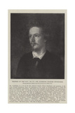 Writers of the Day, Mr Algernon Charles Swinburne Giclee Print by George Frederick Watts