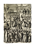 Charlatans in St Mark's Square in Venice Giclee Print by Giacomo Franco