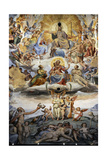 Italy. Florence. Dome of Brunelleschi. Last Judgement, by Giorgio Vasari and Zuccari Giclée-Druck von Giorgio Vasari