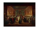 Masquerade at King's Theatre in London, Ca 1724 Giclee Print by Giuseppe Grisoni