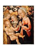 Madonna and Child with Angels, C.1475 Giclée-tryk af Giovanni di Paolo