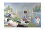 Bathers at Asnières, 1884 Giclee Print by Georges Seurat