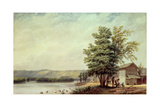 Cirro Cumulus - Houses on a Tobacco Plantation, Virginia, C.1830-40 Giclee Print by George Harvey