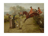 Watching the Hunt, 1895 Giclee Print by George Goodwin Kilburne