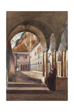 Cloisters at Amalfi, with Additions by Prince Luigi Maria Di Borbone (1838-1886), 1855 Giclee Print by Giacinto Gigante