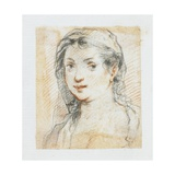 Head of a Woman Giclee Print by Giuseppe Cesari