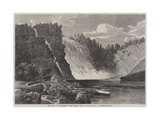 The Falls of Montmorency, Near Quebec Giclee Print by George Henry Andrews