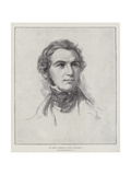 An Early Portrait of Mr Gladstone Giclee Print by George Richmond