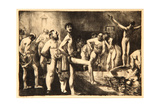 Business-Men's Bath, 1923 Giclee Print by George Wesley Bellows