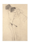 Pregnant Woman with Man: Study for Hoffnung I, C.1903-4 Giclee Print by Gustav Klimt