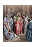 Jesus in the Synagogue Giclee Print by Gustave Dore