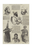 The Late War in India, Portraits from the Punjaub Giclee Print by Godfrey Thomas Vigne