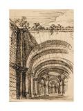 Architektonische Fantasie Giclée-Druck von Giuseppe Valeriani