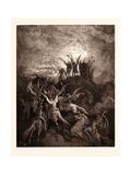 The Rebel Angels Summoned to the Conclave Giclee Print by Gustave Dore