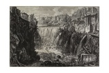 View of the Grand Cascade at Tivoli, 1766 Giclee Print by Giovanni Battista Piranesi