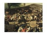 Buffalo Market in Maccarese, Ca 1755 Giclee Print by Giuseppe Bottani