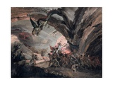 Pluto and a Harlequin in Hell Giclee Print by Giuseppe Bernardino Bison