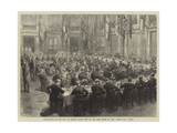 Freemasonry in the City of London, State Visit of the Lord Mayor to the Great City Lodge Giclee Print by Godefroy Durand