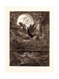 A Voyage to the Moon Giclee Print by Gustave Dore