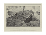 Fight Between the Brunswick and Le Vengeur Giclee Print by Gustave Bourgain