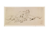 Two Male Figures (Study for the Resurrection) Giclee Print by Giuseppe Bernardino Bison