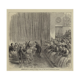Presentation of Prizes by Prince Teck at the South Kensington Museum Giclee Print by Godefroy Durand