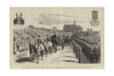 The Duke of Edinburgh at Leeds, Thirty-Five Thousand School Children Singing the National Anthem Giclee Print by Godefroy Durand