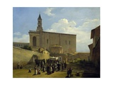 Apse of St John Lateran in Rome, Ca 1824 Giclee Print by Guillaume Frederic Ronmy