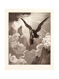 Dante and the Eagle Giclee Print by Gustave Dore