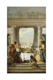 Tragedy of Antony and Cleopatra, Banquet, 1746 Giclee Print by Giovanni Battista Tiepolo