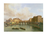 The Pont Neuf, Ile De La Cite, Paris Mint and Conti Quay, 1832 Giclee Print by Guiseppe Canella
