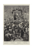 The Jubilee in the East, an Allegory, Victoria, Empress of India Giclee Print by Godefroy Durand