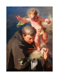 The Vision of Saint Anthony of Padua C.1730 Giclée-tryk af Giovanni Battista Pittoni