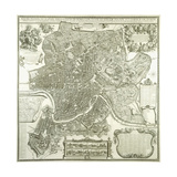 Town Plan of Rome, 1730 Giclee Print by Giovanni Battista Falda